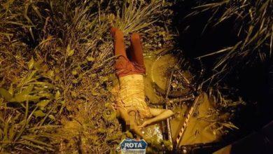 """Photo of Ciclista embriagado cai em buraco ao atravessar """"mini ponte"""" às margens da BR-364"""