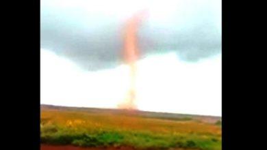 Photo of Chupinguaia: durante temporal moradores flagram tornado em estágio inicial