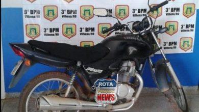 Photo of Após denúncia anônima, Polícia Militar consegue recuperar motocicleta que foi furtada ontem em Vilhena