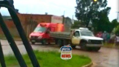Photo of Caminhão e motocicleta se envolvem em acidente na avenida Vitória Régia (1.705)