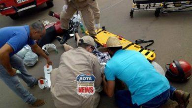 Photo of Carro e motocicleta se envolvem em acidente na avenida Marechal Rondon