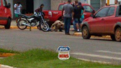 Foto de Motociclista fica ferido em acidente de trânsito na avenida Major Amarante
