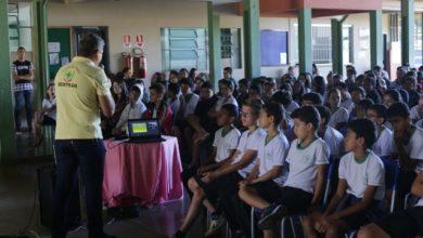 Foto de SEMTRAN comemora 16 anos com ciclo de palestras em escolas de Vilhena