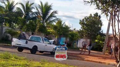 Photo of Carro e carreta colidem próximo da APAE em Vilhena e acidente resulta em danos materiais