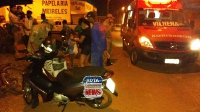 Photo of Duas pessoas sofrem ferimentos após colisão entre motoneta e bicicleta