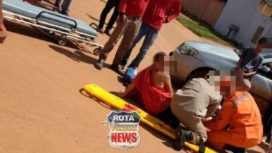 Photo of Mulher fratura perna em colisão entre carro e motocicleta no setor 08