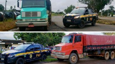 Photo of Dois caminhões roubados em Mato Grosso são recuperados pela PRF em Rondônia; um deles em Pimenta Bueno