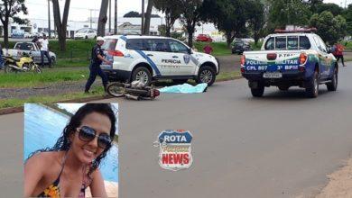 Foto de Identificada mulher que perdeu a vida em trágico acidente no Centro de Vilhena