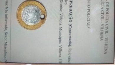Foto de Em Vilhena, jovem de 19 anos é preso por ter furado moeda de R$ 1 real