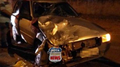 Photo of Colisão entre carro e motocicleta deixa ferido próximo do parque de exposições