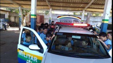 Photo of Patrulha Escolar promove visita guiada à sede do 3º BPM aos alunos da Escola Hermógenes em Vilhena