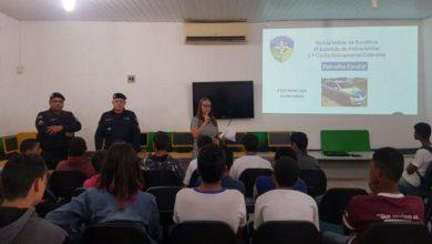 Photo of Patrulha Escolar do 3º BPM ministra palestra sobre o ECA a alunos da escola Cecília Meireles