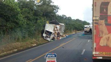 Photo of Acidente envolvendo caminhão é registrado na BR-364 no distrito de São Lourenço