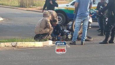 Photo of Motociclistas se envolvem em colisão no Centro de Vilhena
