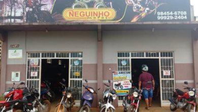 Foto de Neguinho Motos informa aos clientes e amigos que o sorteio do festival de prêmios Amicom é neste domingo
