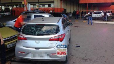 Foto de Imagens fortes: Bandidos são mortos em assalto a carro forte em supermercado da rede Atacadão em Cuiabá
