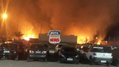 Foto de Incêndio em vegetação próximo de faculdade mobiliza Corpo de Bombeiros em Vilhena
