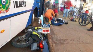Photo of Motociclista sofre ferimentos após ser atingido por ônibus na avenida Melvin Jones