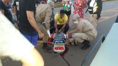 Photo of Duas vítimas ficam em estado grave após colisão entre motos na BR-364 em frente ao posto Planalto