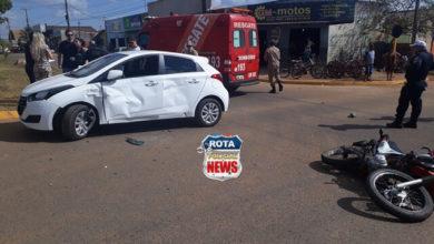 Photo of Motociclista é lançado por cima de veículo e sofre cortes no braço após acidente na avenida Paraná