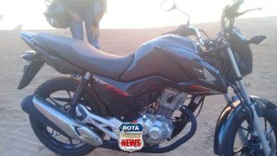 Foto de Mulher tem motocicleta roubada no setor 06 e um adolescente acaba preso pela Polícia Militar