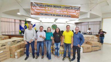 Foto de Luizinho Goebel entrega recurso de R$ 500 mil para serem investidos na saúde de Vilhena