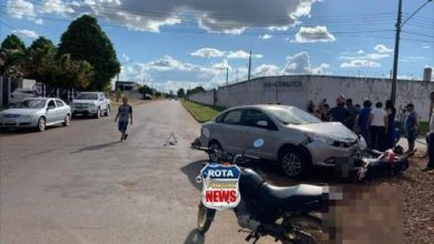 Photo of Colisão entre carro e moto deixa duas pessoas feridas no Jardim América