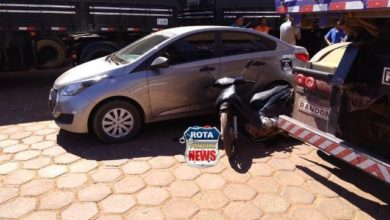 Photo of Motociclista atinge carreta e na sequência colide contra carro de aplicativo no pátio de posto