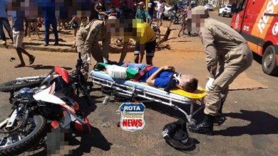 Photo of Motociclista sofre fratura após colisão com camionete no Cristo Rei