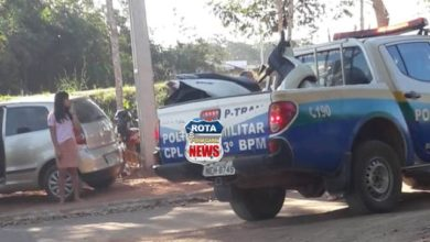 Foto de Motoneta roubada é localizada pela Polícia Militar em mata dentro do Parque Ecológico em Vilhena