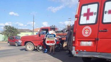 Photo of Colisão entre camionete e motoneta é registrada na BR-174