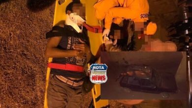 Photo of Motorista e carona ficam feridos após veículo cair em galeria de esgoto na avenida Brigadeiro Eduardo Gomes