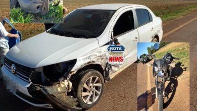 Foto de Colisão entre carro e picape da FUNAI na BR-174 resulta em outro acidente entre camionete e moto