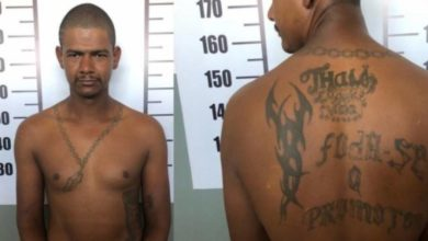 """Photo of Foragido da cadeia de Cerejeiras que tem tatuagem com a escrita: """"foda-se o promotor"""" é preso em cidade do Mato Grosso"""