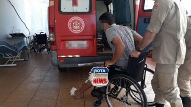 Photo of Motociclista sofre fratura exposta após queda com moto em rua do residencial Barão do Melgaço I