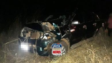 Foto de Camionetes colidem na BR-364 após capivara atravessar rodovia e acabar atropelada