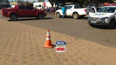 Foto de Camionete da prefeitura de Chupinguaia é atingida por outra na área urbana de Vilhena