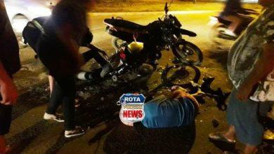 Photo of Colisão entre motocicletas deixa feridos na noite sábado em Vilhena