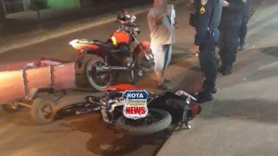 Photo of Moto que foi tirada de concessionária há 02 horas é atingida por outra motocicleta em Vilhena