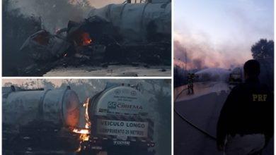 Photo of Urgente: duas pessoas morrem após explosão de carreta na BR-364