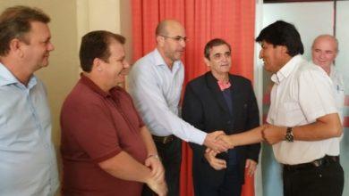 Foto de Deputado Luizinho Goebel e demais colegas parlamentares são recebidos pelo presidente da Bolívia, Evo Morales