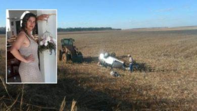 Foto de Adolescente pega o volante, capota carro e a mãe dele acaba morrendo