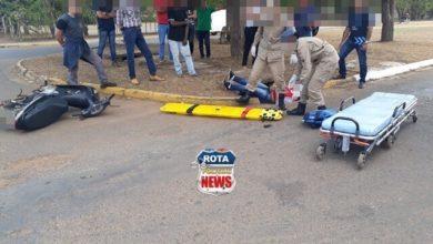 Photo of Colisão envolve duas motocicletas e uma bicicleta e deixa feridos em Vilhena