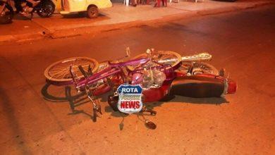 Photo of Motociclista inabilitado atinge ciclista na avenida Brasil