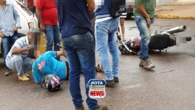 Photo of Funcionário de supermercado sofre ferimentos após acidente em cruzamento de avenidas