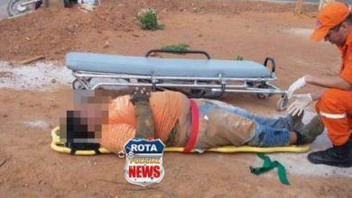 Foto de Entregador de gás sofre possível fratura na perna após acidente na avenida Rondônia
