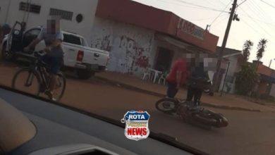 Photo of Motorista flagra acidente entre moto e camionete no Jardim das Oliveiras