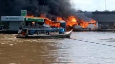 Photo of Barco explode em trecho do Rio Amazonas no Amapá e duas pessoas ficam feridas