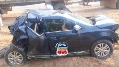 Photo of Veículo é destruído em acidente na BR-364