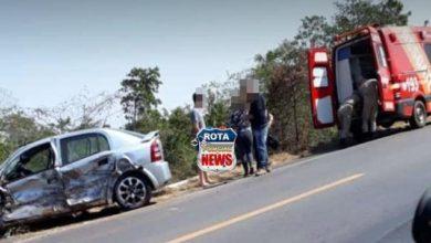 Foto de Urgente: colisão entre carro e uma carreta deixa feridos e danos materiais na BR-364 em Vilhena